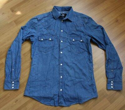 Рубашка Dolce & Gabbana Slim Denim размер M L оригинал
