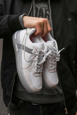 Кроссовки Nike Air Force White Silver