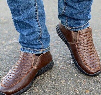 мужские зимние туфли кроссовки р.41-26,5см,р.42-27см.