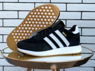 Adidas Iniki кроссовки зимние мужские черные с белым 9940