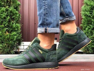 Adidas Iniki кроссовки зимние мужские тёмно зелёные 9941