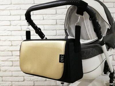 Сумка-Пеленатор на коляску Z&D Еко кожа Золотой