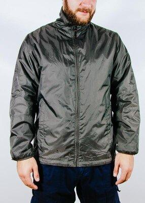 Мужская теплая куртка пуховик, мужская курточка хаки, мужская куртка демисезонная