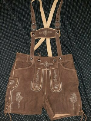 Кожанные шорты октовберфест. Баварские шорты.