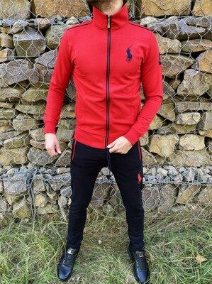 Спортивный костюм Polo by Ralph Lauren красно-черный