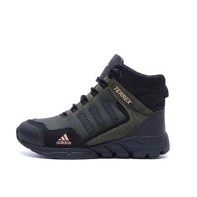 Мужские зимние кожаные ботинки Adidas TERREX Green