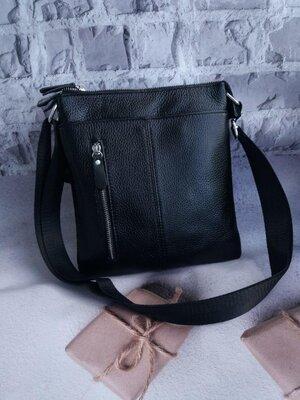 Мужская кожаная сумка чоловіча шкіряна из натуральної шкіри сумочка на плечо