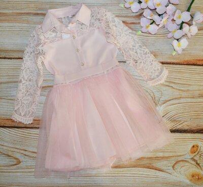 Пышное праздничное платье на девочку, красивое кружево, отличное качество