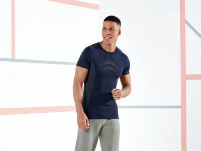 Бесшовная мужская функциональная футболка р.L спортивная от Livergy, Германия