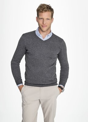 Темно-Серый свитер пуловер zara р. 48-50 l вискоза