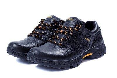 Мужские кожаные кроссовки демисезонные
