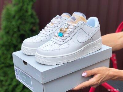 Кроссовки женские Nike Air Force 1 белые, Топ качество