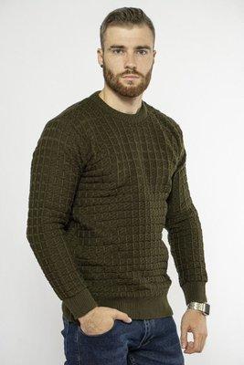 Мужской свитер с фактурной вязкой 85F303