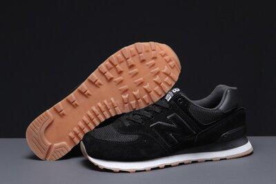 Кроссовки мужские 18035 New Balance 574, черные