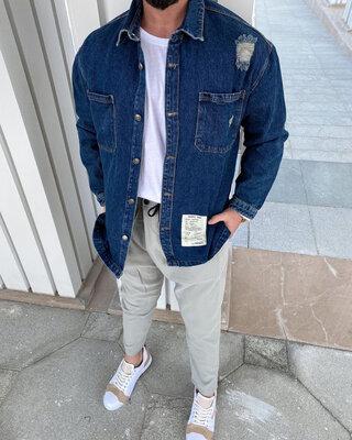 Крутые джинсовые оверсайз рубашки