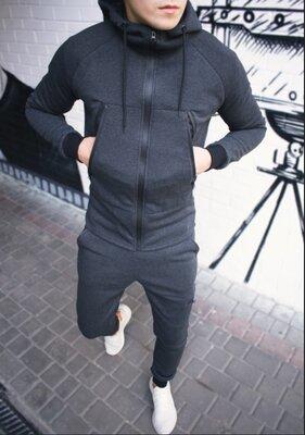 Теплый спортивный костюм на микрофлисе