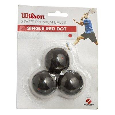 Мяч для сквоша Wilson Staff 618200 3 мяча в комплекте средний мяч