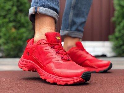 Мужские осенние термо кроссовки The North Face ,красные