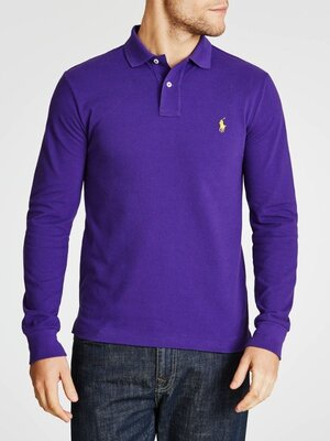 Облегающая рубашка-поло с длинным рукавом Polo Ralph Lauren