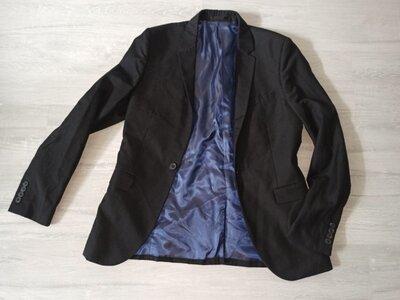 Пиджак мужской размер S черного цвета Topman на парня рост 170-175 см