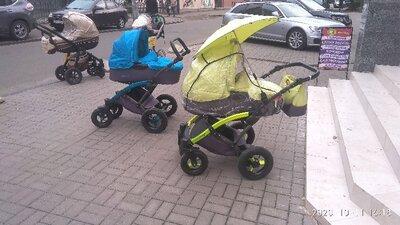 Яркая надёжная коляска 2в1 для наших дорог с проходимостью и амартизацией