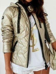 Женская куртка золото 48-50 размера