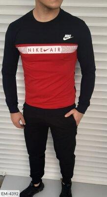 Спортивный мужской костюм Nike Найк EM-4392 МЖ пинье двухнитка расцветки