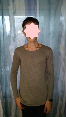 Модный зауженный полувер джемпер Smog Slim Fit разм. XS/S 34/36 мужской свитер