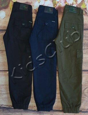 Джоггеры карго штаны на флисе на рост от 116 до 176