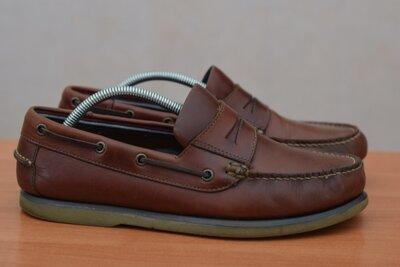 Кожаные туфли, мокасины, топсайдеры Marks&Spencer, 42 размер. Оригинал
