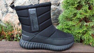 Мужские ботинки сапоги дутики зимние BAAS р. 37-45 чёрные