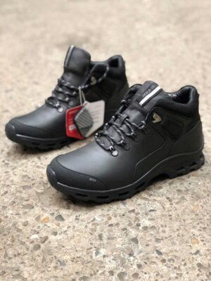 Зимние мужские ботинки с утеплителем primaloft, натуральная кожа