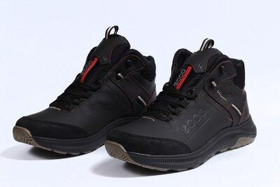 Зимние мужские ботинки Ecco Biom brown натур.кожа, мех