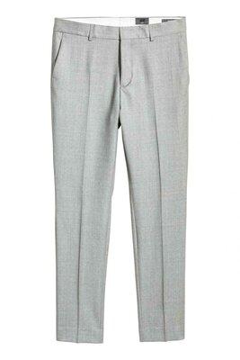 Шерстяные брюки Slim fit H&M Размер 48