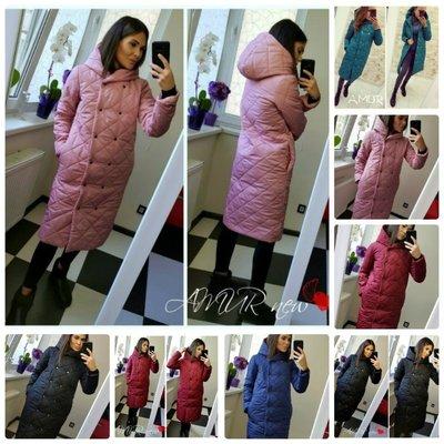 Продано: Трендовая женская зимняя куртка пальто длинная стеганная на кнопках в два ряда 6 цветов С М Л Хл