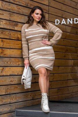 Продано: Теплое вязаное платье. 8 расцветок. Размер единый 46-54.