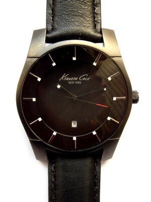 Kenneth Cole мужские часы из Сша с датой кожа мех. Japan Miyota