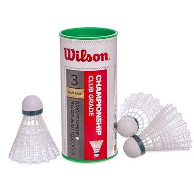 Воланы для бадминтона нейлоновые Wilson Championship 6040 3 волана в комплекте