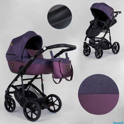 Коляска детская универсальная 2 в 1 Expander VIVA цвет Plum , эко-кожа ткань
