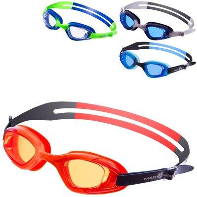 Очки для плавания детские MadWave Junior Micra Multi M041901 4 цвета поликарбонат, силикон