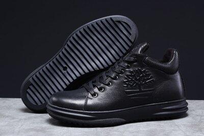 Зимние ботинки Timbershoes, черные натур.кожа, 40-45р
