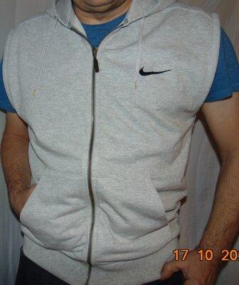 Катоновая стильная фирменная кофта реглан безрукавка Nike Найк .л-хл .