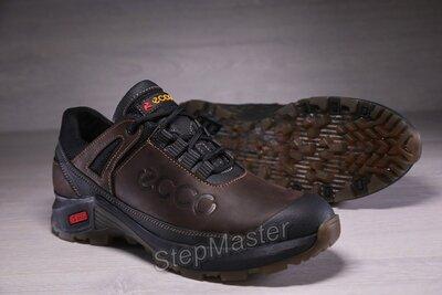 Кроссовки мужские кожаные ECCO Trekking Force коричневые