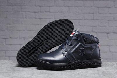 31521 Зимние мужские ботинки Tommy Hilfiger Denim мех, темно-синие
