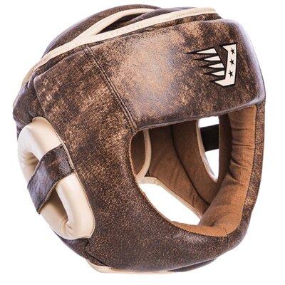 Шлем боксерский с полной защитой кожаный Velo 2217 размер М-Xl