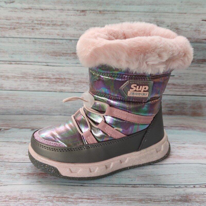 Детские зимние дутики сапоги для девочки хамелеон 27-32р. Т5103: 480 грн - зимняя обувь в Николаеве, объявление №27383341 Клубок (ранее Клумба)