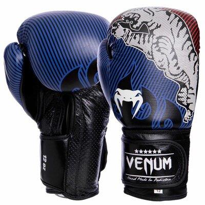 Перчатки боксерские кожаные на липучке Venum Tiger Legend 2044 10-14 унций
