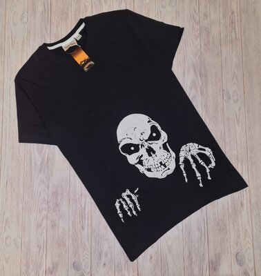 Светящаяся в темноте футболка с графическим принтом на хэллоуин M L XL
