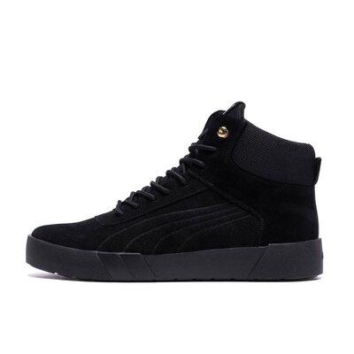 Мужские зимние кожаные ботинки Puma Black