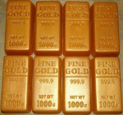 Слиток золота. Мыло сувенирное. Ручная работа